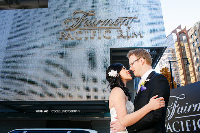 Wedding ceremony Fairmont Pacific Rim