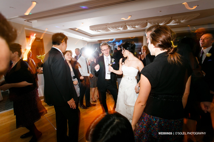 Dancing at Fairmont Pacific Rim Wedding