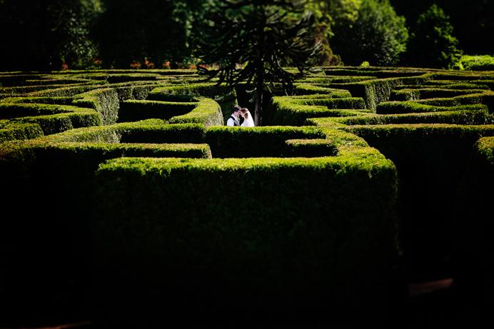 Van Dusen Garden wedding maze