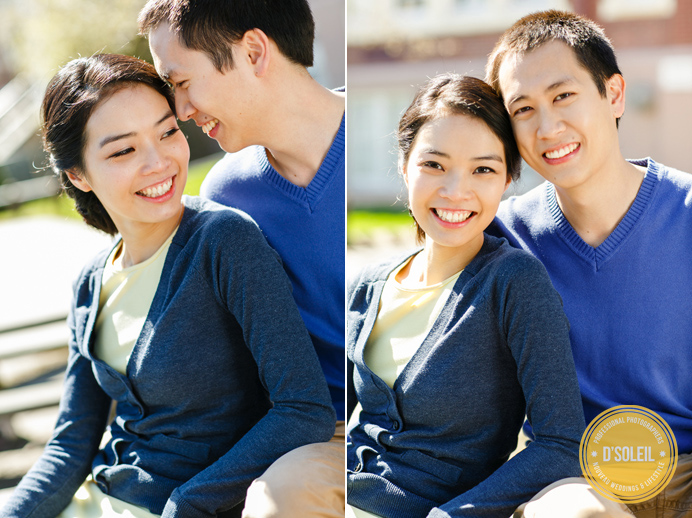 Vancouver engagement session at school