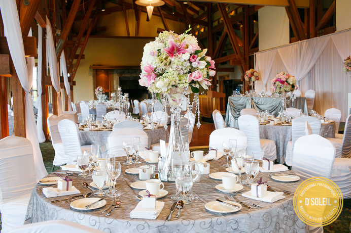 Westwood Plateau wedding ballroom decor