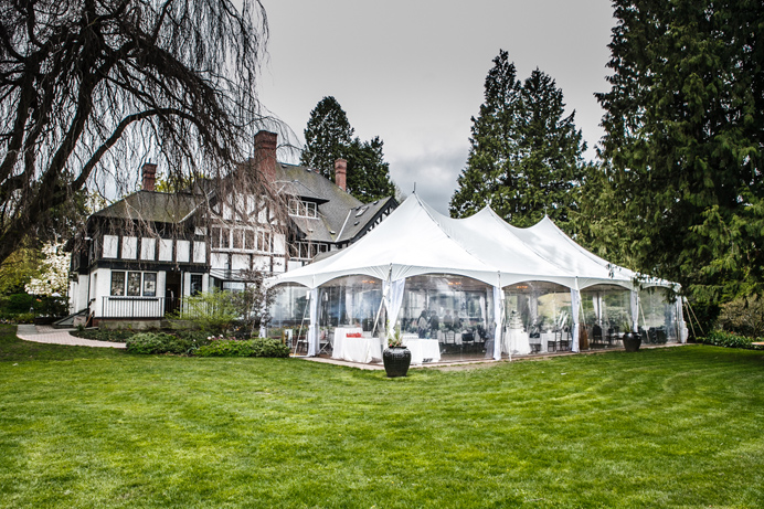 Brock house wedding tent