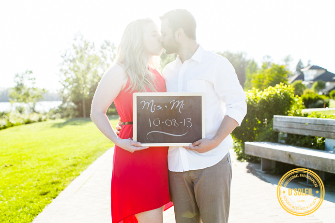 Engagement session chalk board sign