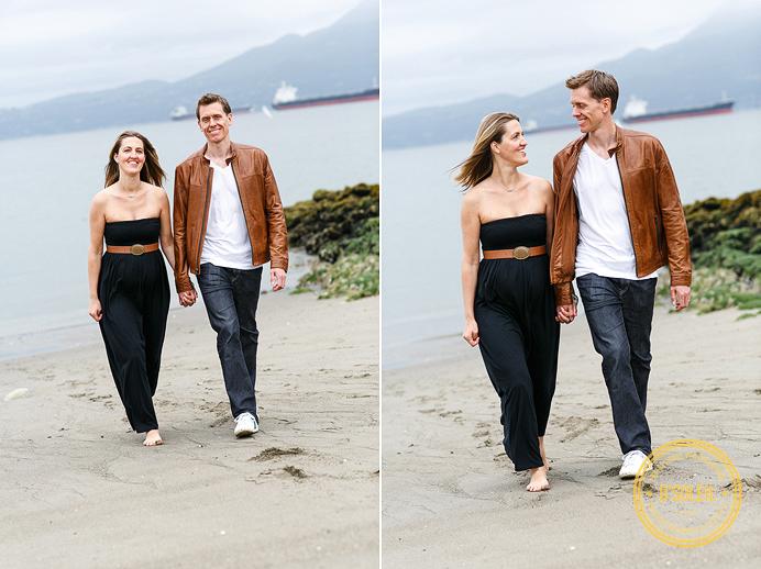 Walking along a Vancouver beach
