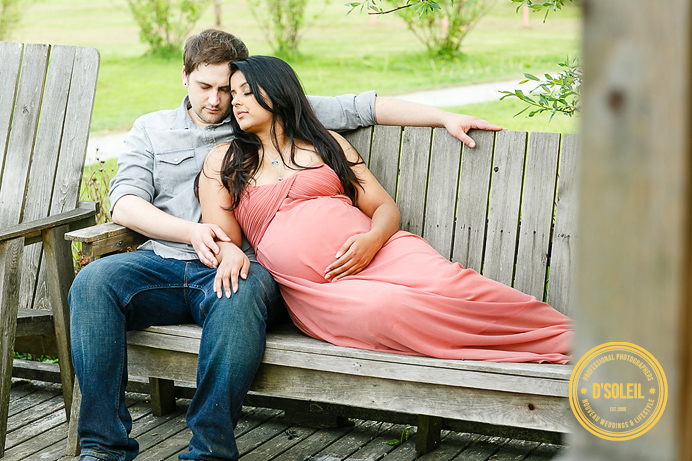 Rustic outdoor maternity session photo