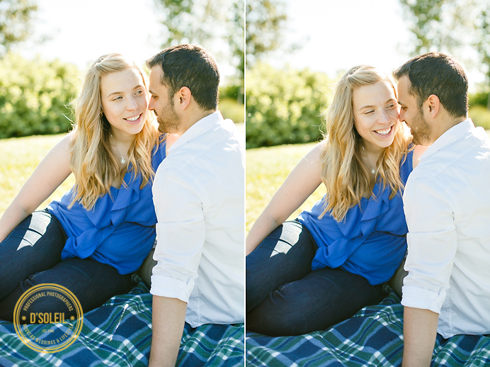 picnic engagement photo session