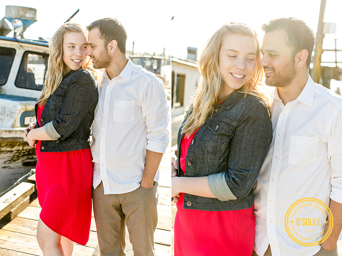 engagement session with boats