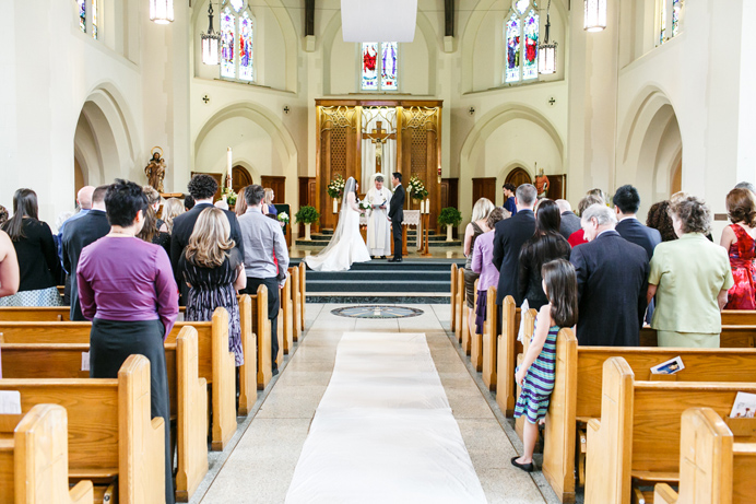 St. Augustine Catholic wedding ceremony