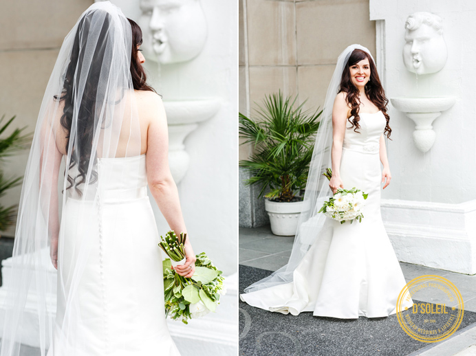 Downtown Vancouver bride's dress