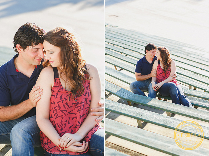 Engagement session at PNE Playland