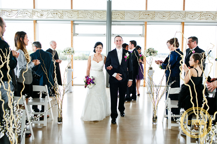 Wedding ceremony at UBC Boathouse