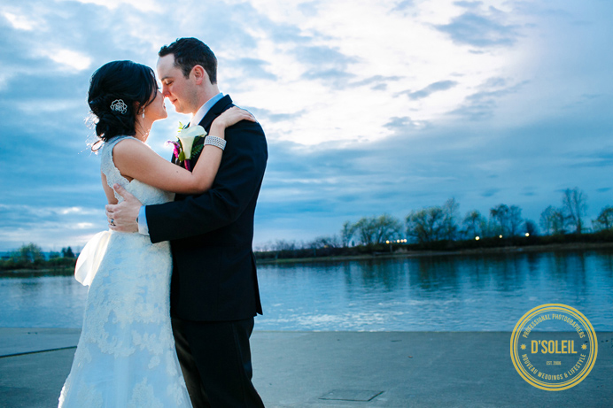 Wedding photo at UBC Boathouse