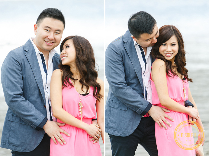 Vancouver beach wedding engagement photos