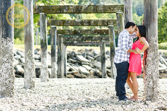 Vancouver beach side engagement photos
