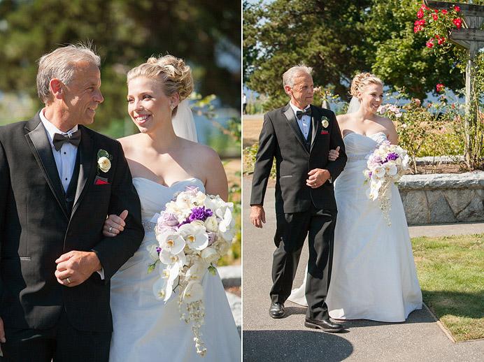 Burnaby mountain wedding ceremony