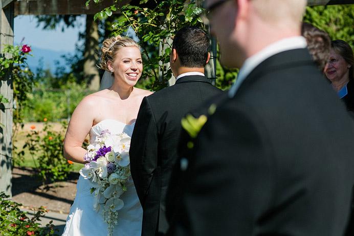 Burnaby mountain rose garden wedding ceremony