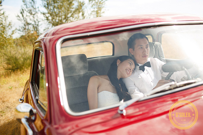 Vintage car wedding Vancouver photographer