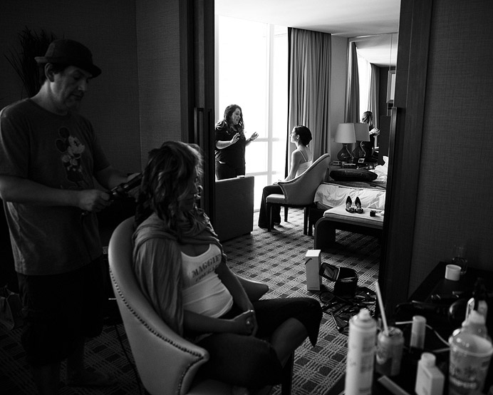 Loden Hotel wedding getting ready