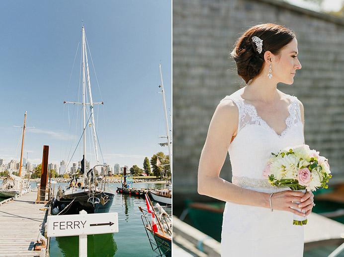Vancouver maritime wedding photo