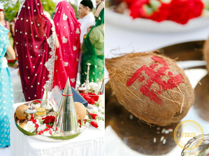 Zoroastrian wedding coconut
