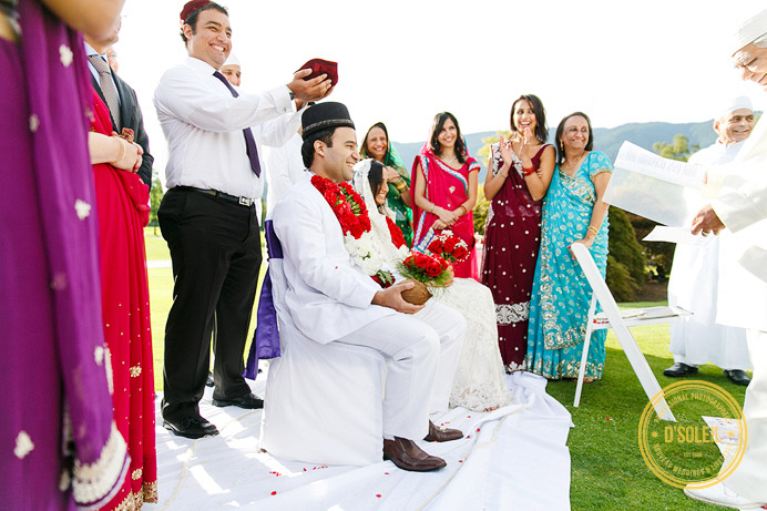 Zoroastrian wedding ceremony at Swan-e-set