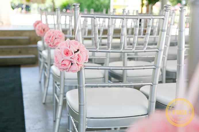 Pink wedding decor colours