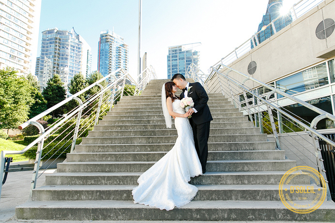 Coal Harbour wedding photo