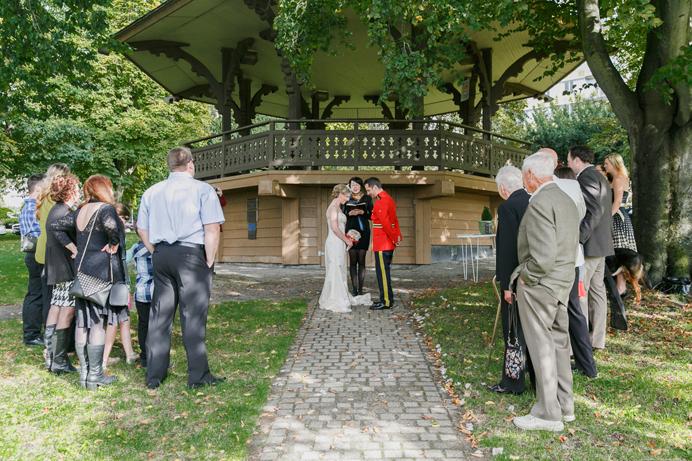 RCMP Wedding ceremony in Vancouver park