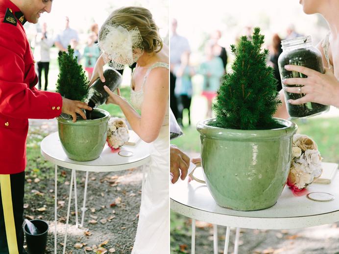 Tree planting ceremony wedding