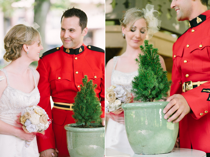Tree planting ceremony wedding
