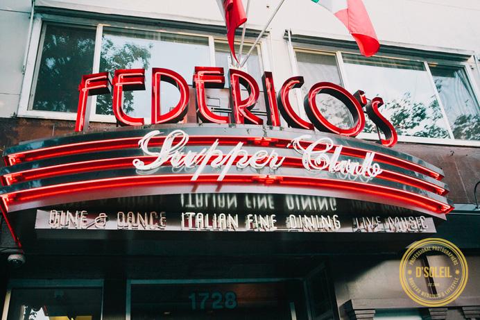 Frederico's supper club wedding reception
