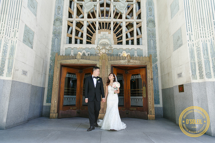 Marine Building art deco wedding photo