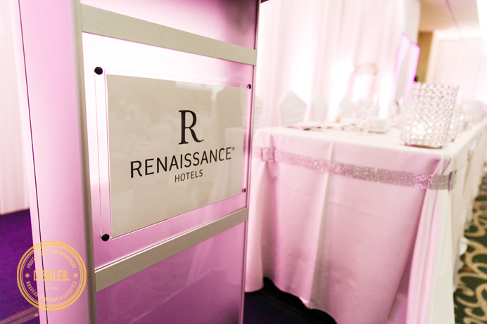 Renaissance Hotel Vancouver wedding reception decor