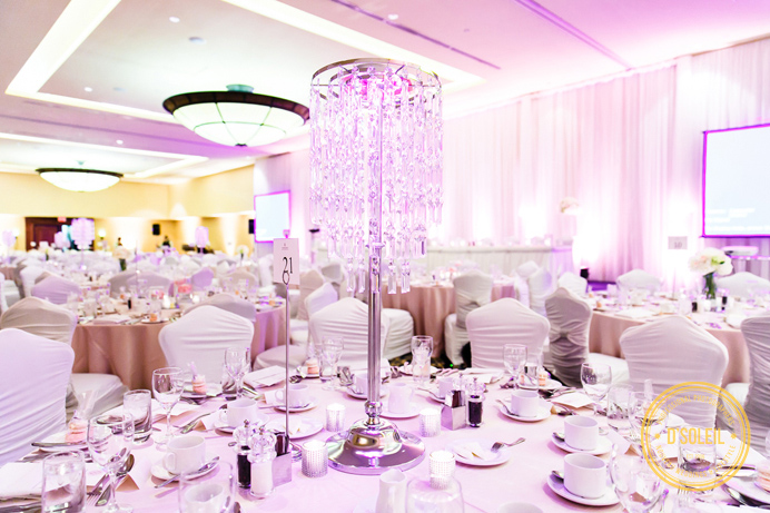 Renaissance Hotel Vancouver wedding ballroom decor