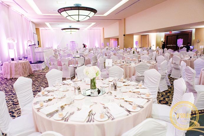 Renaissance Hotel Vancouver wedding ballroom