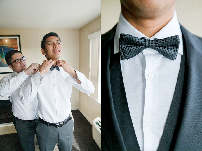Westwood Plateau wedding groom getting ready