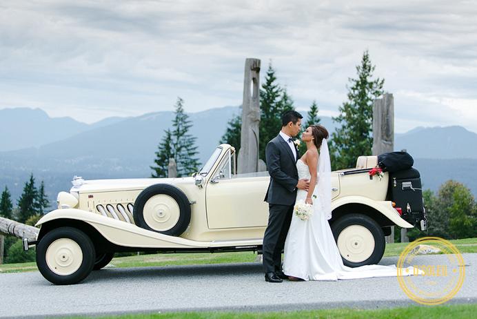1930 Beauford classic limo Westwood Plateau wedding