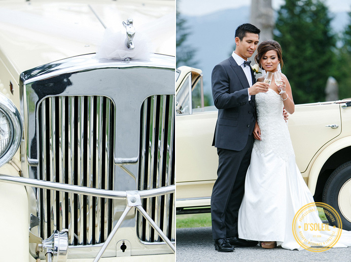 Westwood Plateau wedding with vintage limo