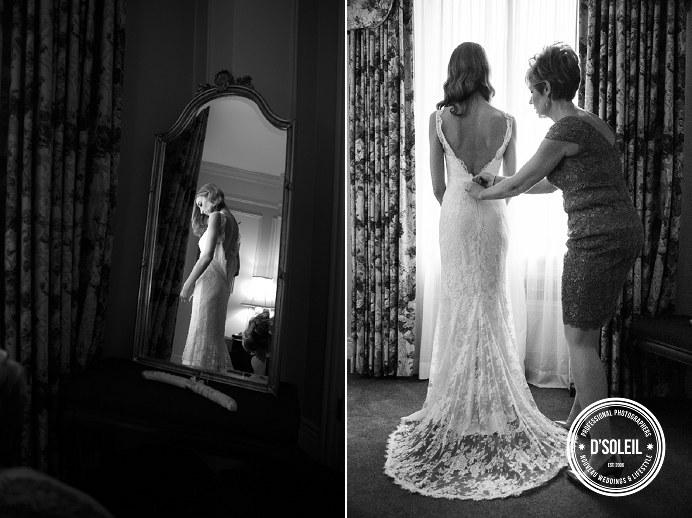 Fairmont Hotel Vancouver bride dressing