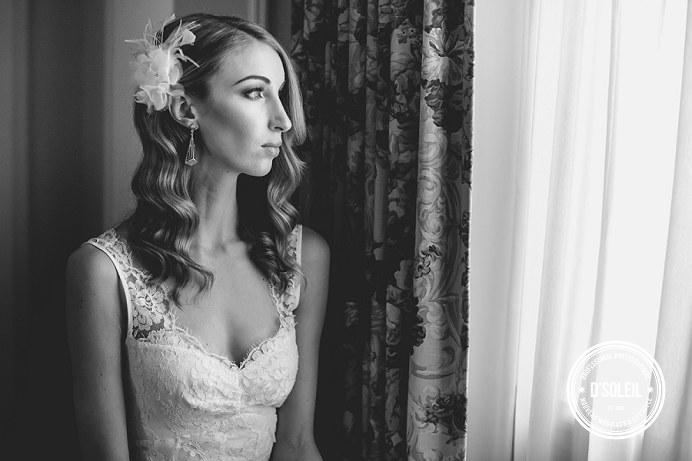 Fairmont Hotel Vancouver bride portrait