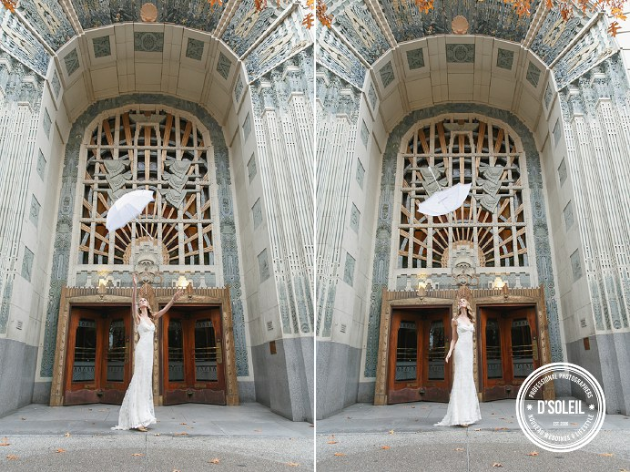 Marine Building wedding umbrella