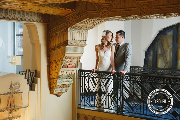 Marine building wedding photos