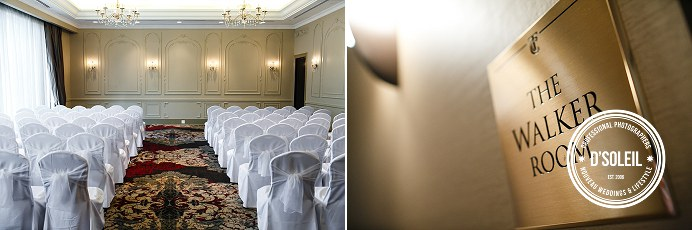 Terminal City Club Walker room wedding ceremony