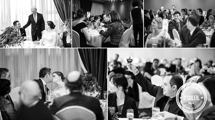 Terminal City Club wedding ballroom candids