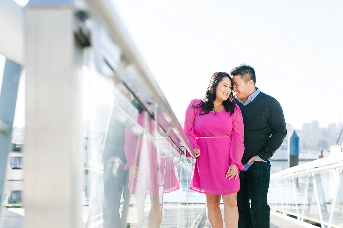 Fuchsia dress for wedding engagement