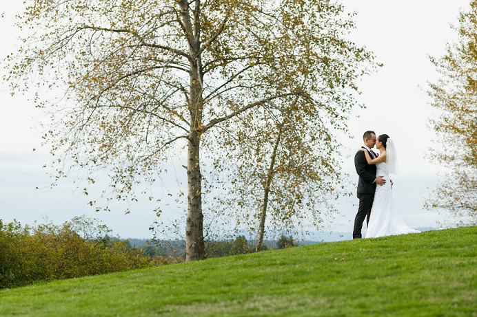 Fraser river fall wedding