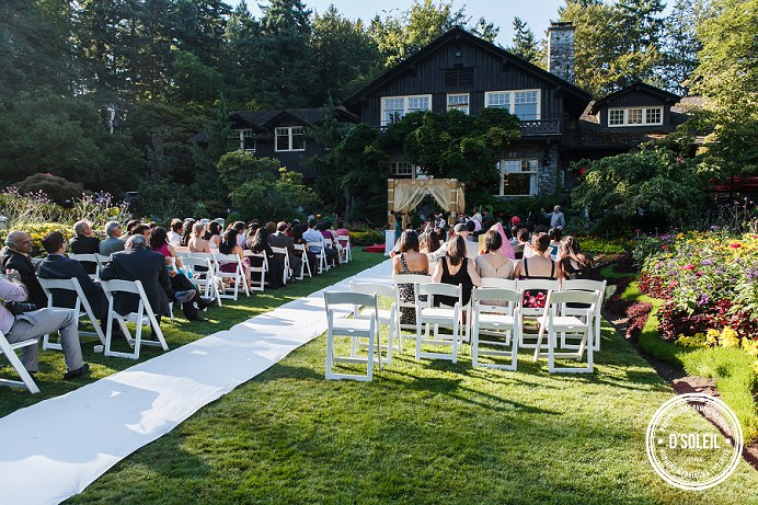 Stanley Park Pavilion wedding outside