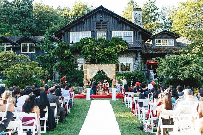 Stanley Park Pavilion wedding setup