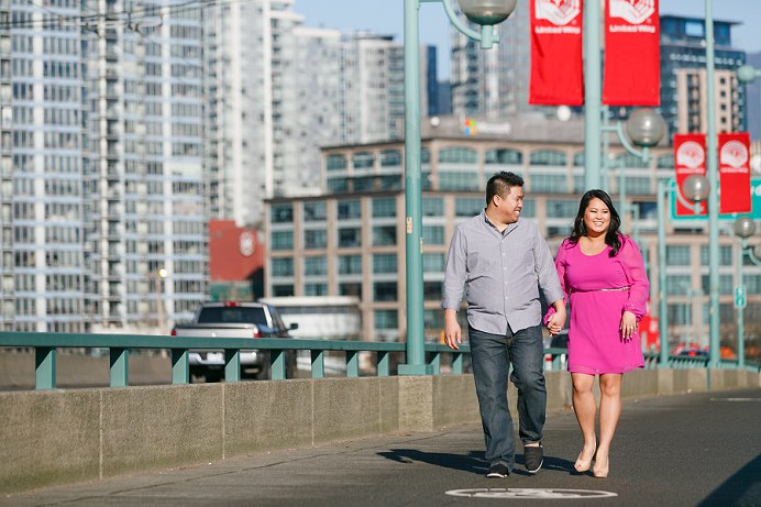 Vancouver bridge engagement session