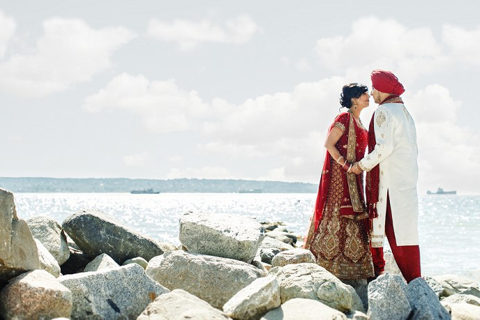 Stanley Park Sikh and Hindu bride and groom